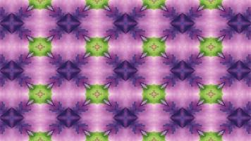 grüner und violetter Kaleidoskophintergrund video