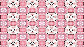 roter und weißer Blumenform-Kaleidoskophintergrund video