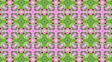 grüner und rosa Kaleidoskophintergrundoscope video
