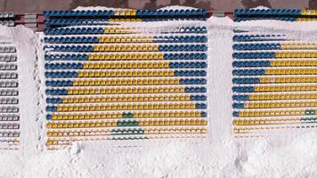 Outdoor stadium in the snow video