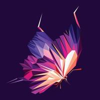 Butterfly abstract polygonal vector