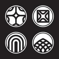 Abstract geometric logo mark vector