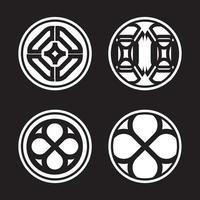 Abstract geometric logo mark set vector