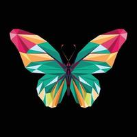 Butterfly polygonal design vector