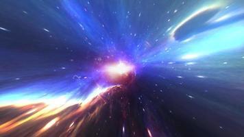 spazio tempo iperspazio velocità della luce ciclo di volo spaziale video
