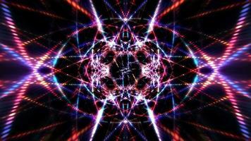 partículas cintilantes digitais azuis vermelhas com luz brilhante video