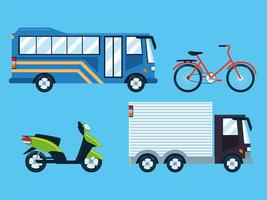 establecer transporte de la ciudad vector