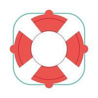 travel vacations lifebuoy isolated vector icon