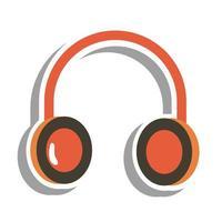 Music headphone sticker vector design