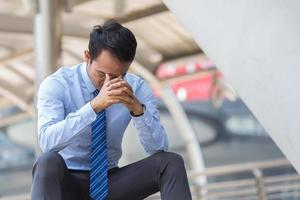 Businessman stressed with work photo
