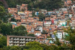 Slums of Santa Marta in Rio de Janeiro, Brazil photo