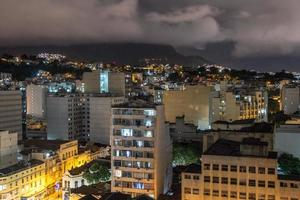 Night view from the top of a building in downtown Rio de Janeiro, Brazil photo