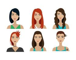 group of women style punk vector