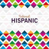 antecedentes, cultura hispana y latinoamericana, mes nacional de la herencia hispana en septiembre y octubre vector
