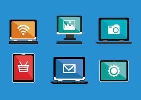 paquete de iconos de conjunto de comercio electrónico vector