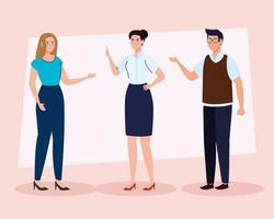 group of teachers meeting, education concept vector