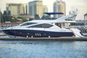 Marine landscape with views of the beautiful expensive yachts photo