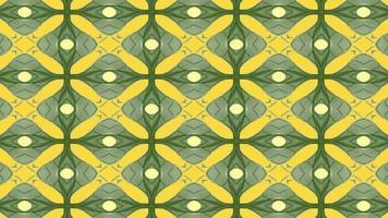 abstrakter gelber und grüner Kaleidoskophintergrund video