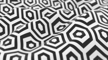 fundo de onda hexágono preto e branco video