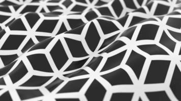 Abstract Hexagon Wave Background video