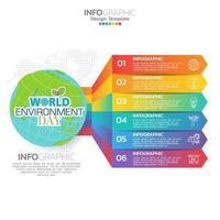 Ecology concept with green city. World environment concept. vector