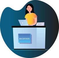 Girl Receptionist Character vector