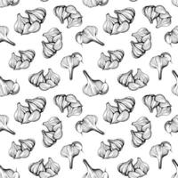 Garlic seamless pattern. hand drawn vector illustration