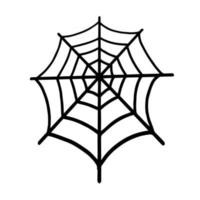 Web isolated on a white background. Web for Halloween, a scary, ghostly, spooky element for design on Halloween vector