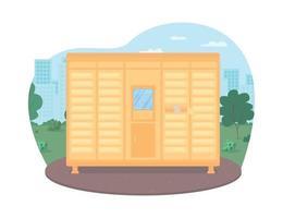 Mailboxes row service 2D vector web banner
