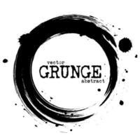 Abstract grunge circle shapes  Vector