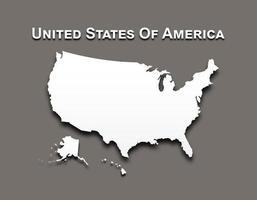 Map of United state of america . vector