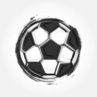 Grunge style football on grey colour gradient background . Flat design . Vector for international world championship tournament cup 2018 .