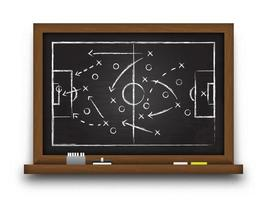 Soccer cup formation and tactic  Chalkboard with football game strategy   Vector for international world championship tournament 2018 concept