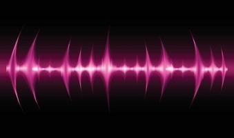 ondas de sonido oscilando luz oscura vector