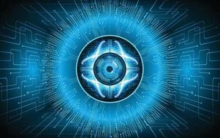 eye Closed Padlock on digital background cyber security vector