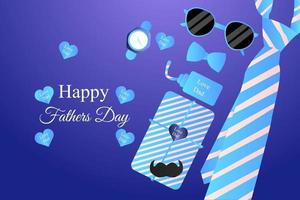 Fathers Day illustration background vector