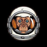 illustration Astronaut Monkey,premium vector