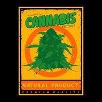 illustration plant cannabis,premium vector