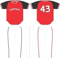 Fastball Baseball Jersey American vector