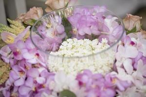 Thai wedding ceremony and Thai wedding decoration photo