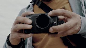 Hands of A Man Who Holds the Camera video
