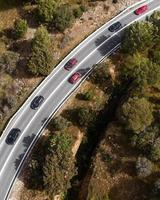 Top view of transport concepts photo