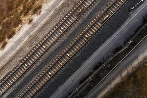 vista superior de los conceptos de transporte foto