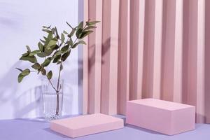 el arreglo creativo escenario minimalista. foto