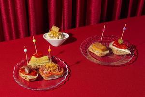 Delicious tapas starter food assortment photo
