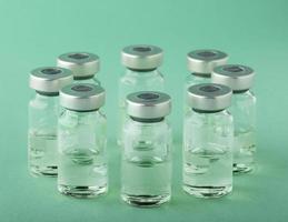 la muestra del arreglo de vacunación contra el coronavirus foto