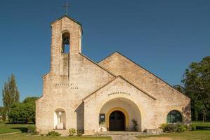iglesia en greco town foto