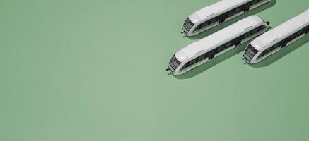 composición del transporte público de alto ángulo foto