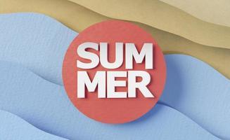 composición de elementos de naturaleza muerta de verano de papel foto