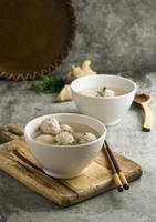 The delicious bakso bowl assortment photo